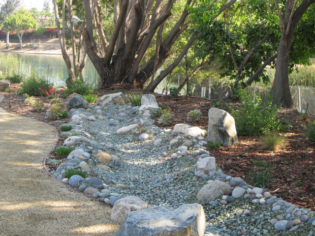 Fullerton native low water front yard traditional for California native landscape design
