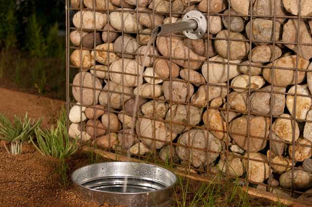 Gabion contemporary landscape