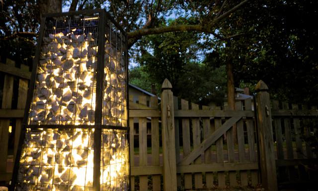 Gabion Lounge - Rustic - Landscape - indianapolis - by ALSinc.