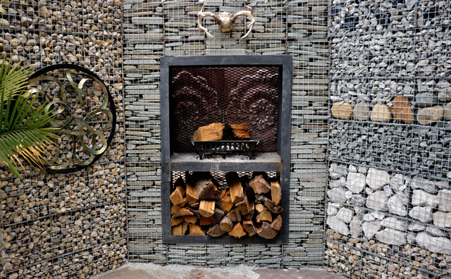 gabion lounge rustic landscape indianapolis by alsinc. Black Bedroom Furniture Sets. Home Design Ideas