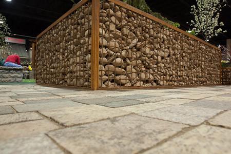 Gabion Planter With Granite Pavers