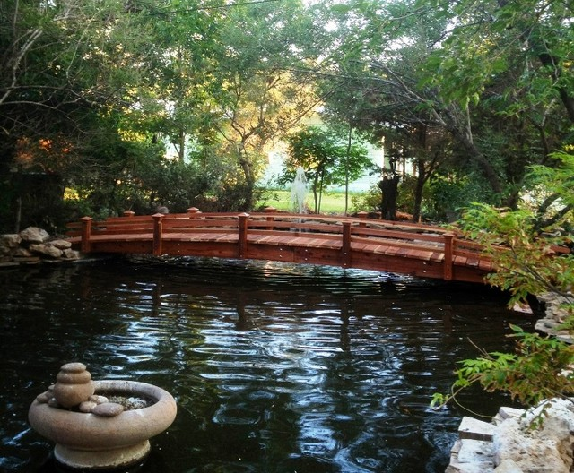 Garden bridge tropical landscape san diego by for Koi for sale san diego