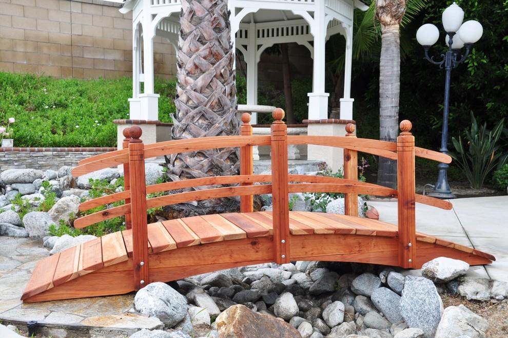 Garden Bridge Traditional Landscape, Redwood Garden Bridges
