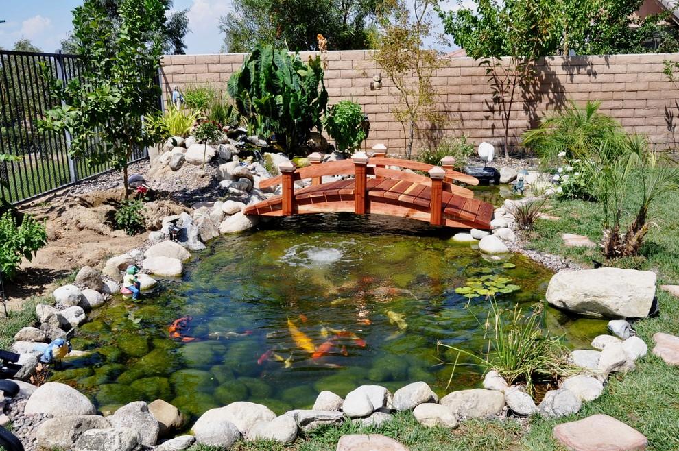 Garden Bridge Tropical Landscape, Redwood Garden Bridges