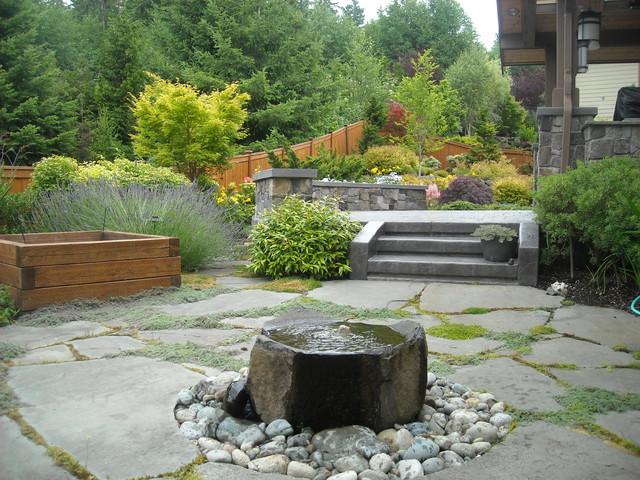 Garden bubbler bird bath traditional landscape for Landscape architects bath
