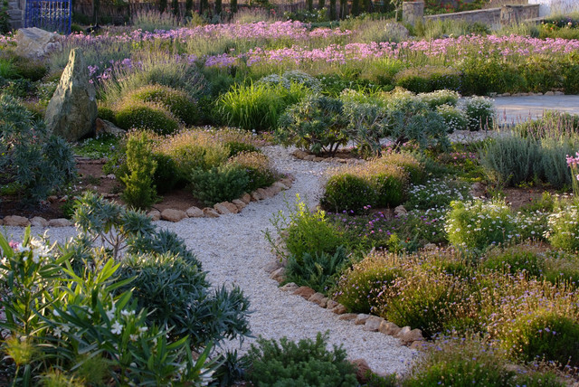 Garden design in Greece on the island of Paros mediterranean-landscape