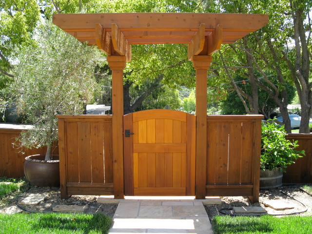 Garden Gate Arbors Designs landscaping and outdoor building backyard wooden gate designs painted lattice wooden gate designs with Garden Gate With Arbor Traditional Landscape Orange County By