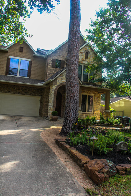 Garden oaks landscape traditional landscape houston for Garden oaks pool houston