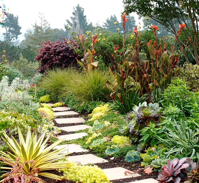 garden paths and landscape steps contemporary
