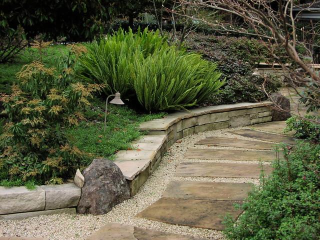 Garden Paths and Landscape Steps traditional-landscape
