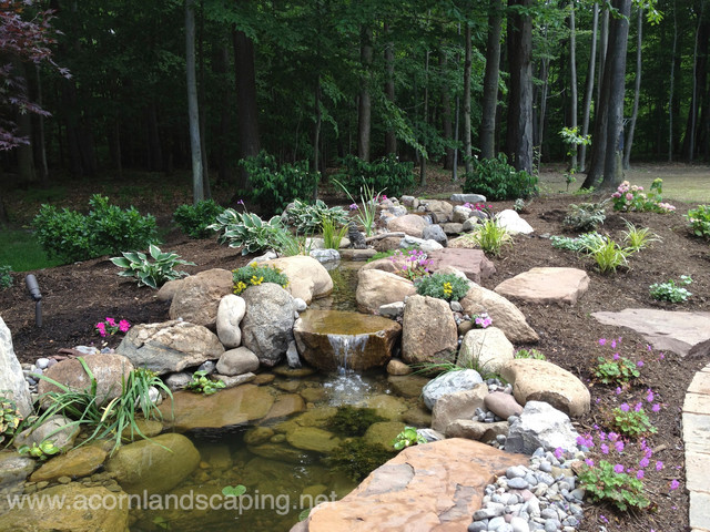 Garden Ponds Fish Koi Waterfall Rochester Ny By Acorneclectic Landscape New York