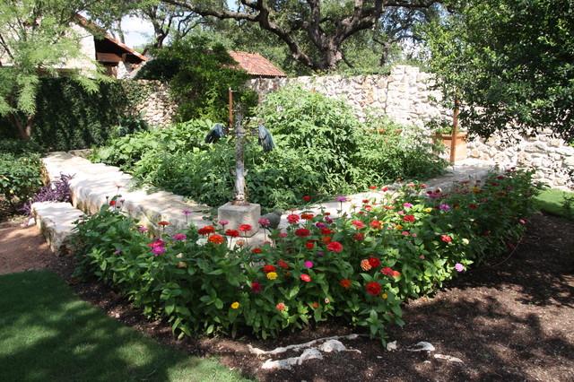 Garden Mediterranean Landscape Austin By Rick O