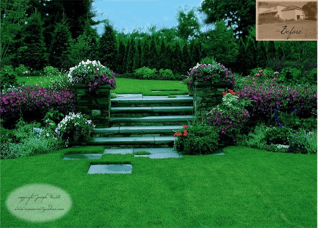 Garden Steps & Plantings traditional landscape