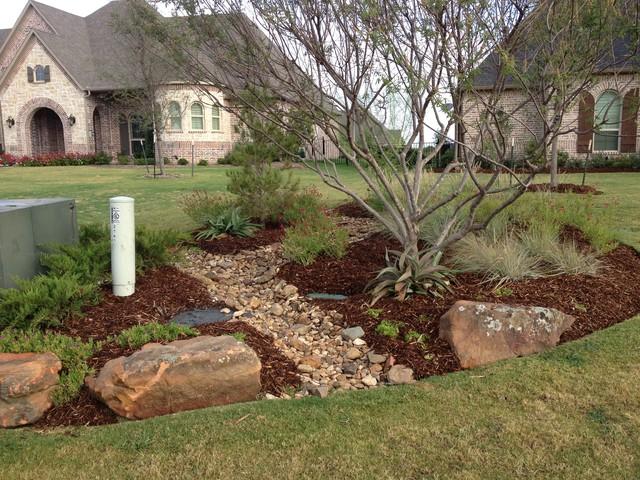 Gardens of dave r williams custom homes prosper texas for Landscaping rocks dallas