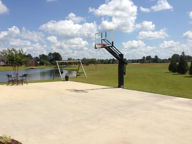 pro dunk hoops. Garrett B\u0027s Pro Dunk Diamond Basketball System On A 50x42 In Grimesland, NC Traditional- Hoops O