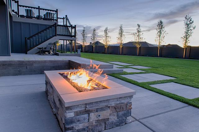 Gas Fire Pits Contemporary Garden Salt Lake City