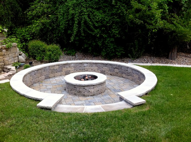 Gas Fire Pits Traditional Landscape Salt Lake City