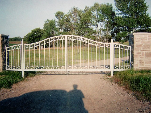 Gates and fence traditional-landscape