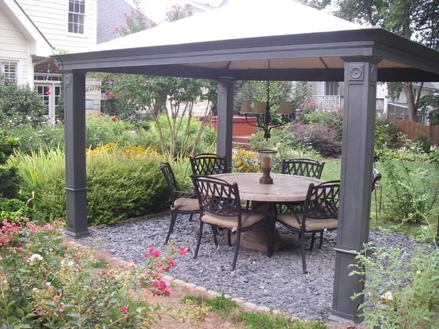 Gather with friends under this shady garden gazebo