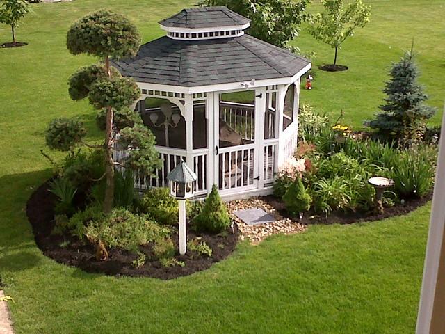 Gazebo Garden - Traditional - Landscape - cleveland