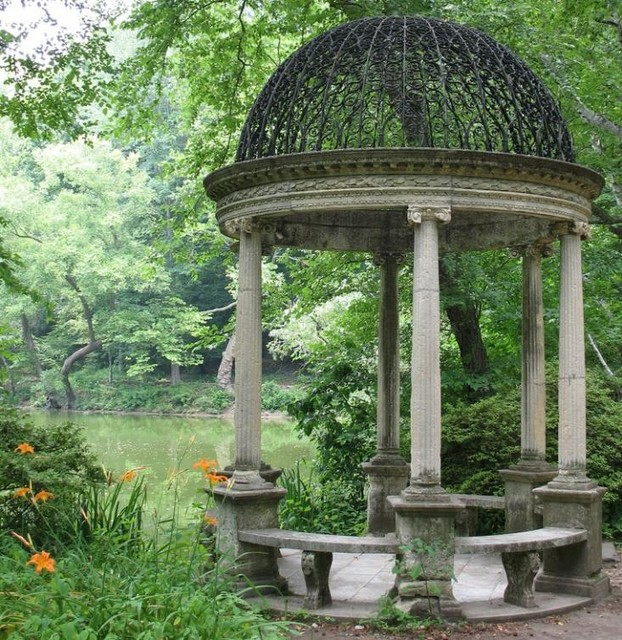 Gazebos and landscaping mediterranean style for Garden folly designs