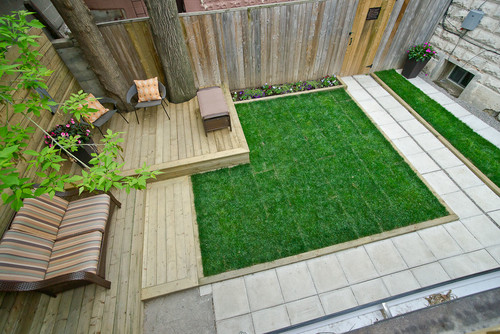 For One Of His Backyard Projects He Used The Same Paving Material As In Front Entryway It Created A Unified Space That Made Seem Bigger Says