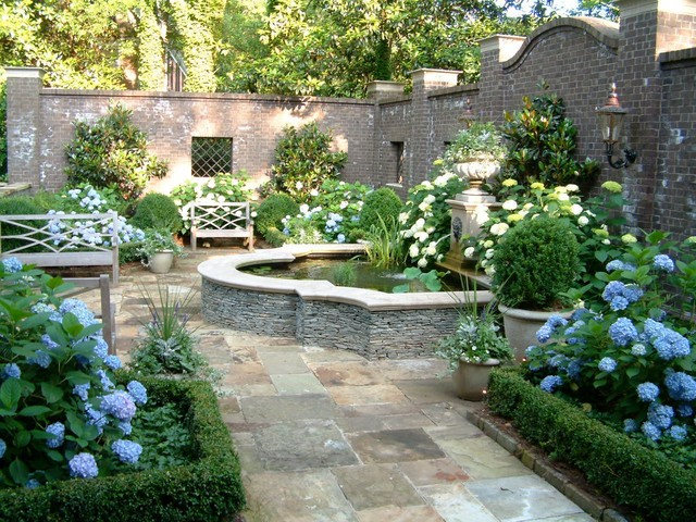 Georgian classic garden traditional landscape for Houzz landscape architects