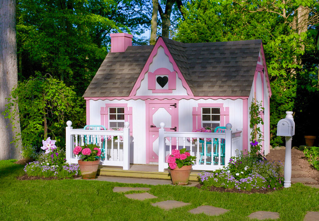 Girls Playhouse Shabby Chic Style Landscape New York