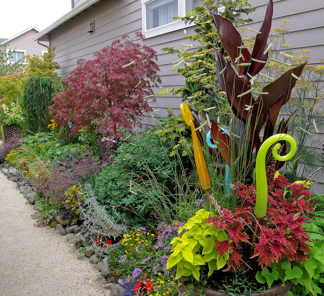 Landscape Garden Art : Glass art traditional landscape seattle by