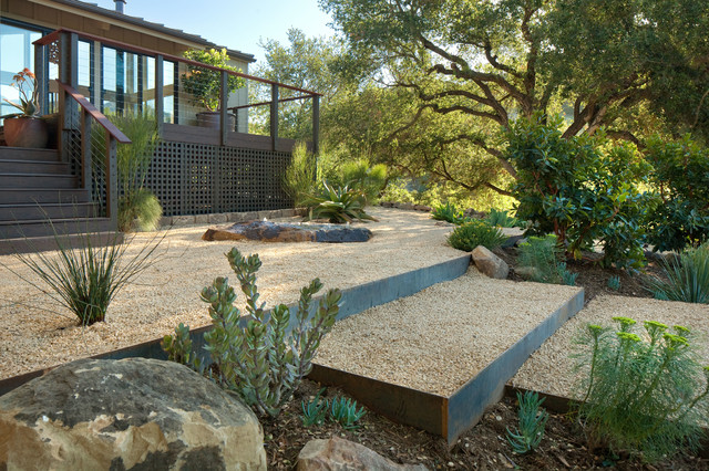 Grace design associates contemporary landscape santa for Landscape design associates