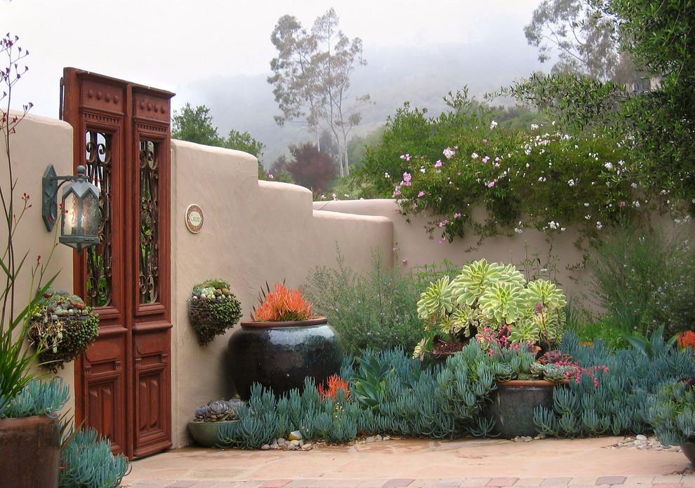 Inspiration for a mediterranean full sun landscaping in Santa Barbara.