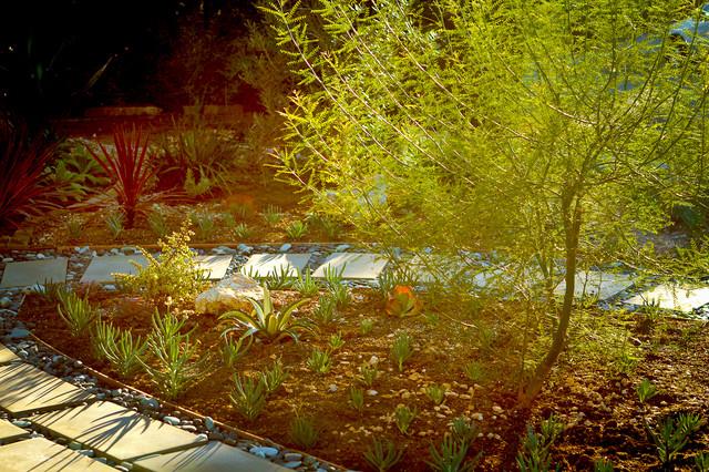 Granit Pavers Drought Tolerant Garden Contemporary
