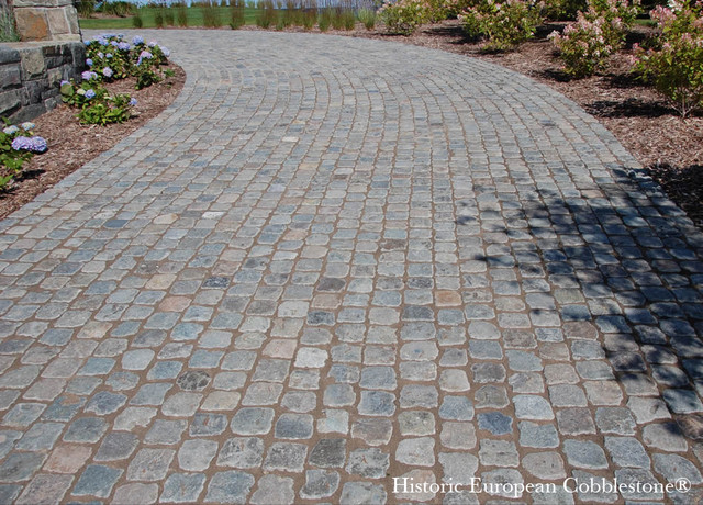Cobblestone Stones For Driveways : Granite cobblestone driveway bay harbor michigan