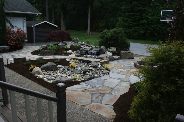 Granite Falls Water Feature traditional-landscape