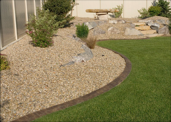 Landscaping With Stone Mulch Pictures : Gravel and stone traditional landscape dc metro by