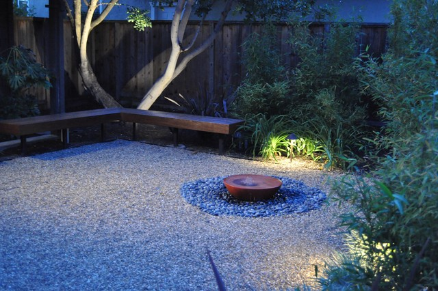gravel courtyard asian landscape