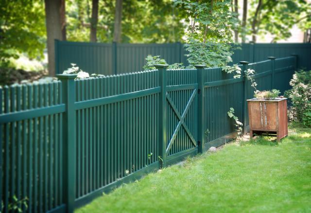 Green Pvc Vinyl Picket Fence From Illusions Vinyl Fence