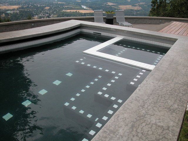 Grids and Curves - A Residence modern-landscape