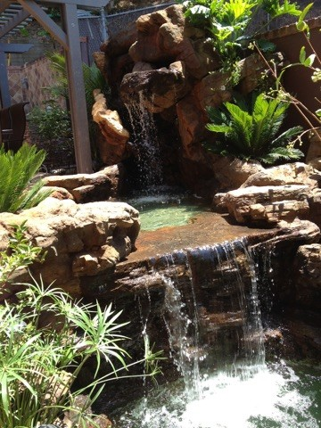 Griffith Park, LA, CA - Koi Pond with Waterfalls