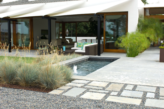 Grounded modern landscape architecture modern for Houzz landscape architects