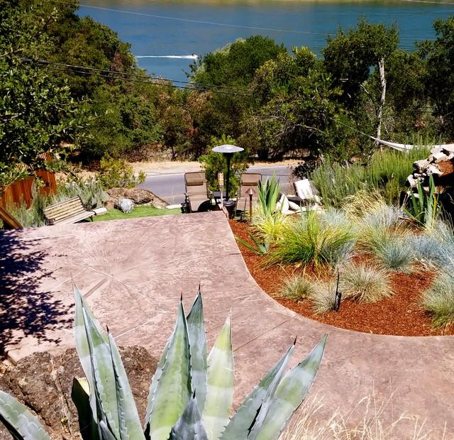 Half acre transformation contemporary garden other for Half acre backyard landscaping ideas