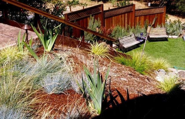 Half acre transformation contemporary landscape for Half acre backyard landscaping ideas