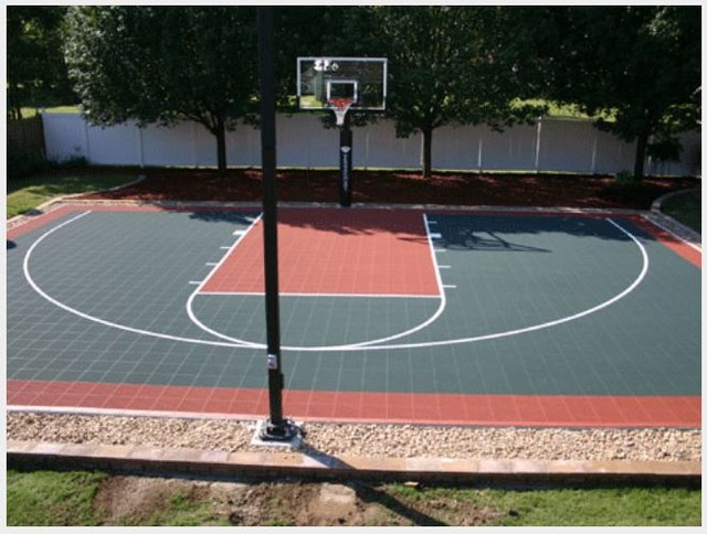 Half outdoor courts traditional landscape other for Outdoor sports court