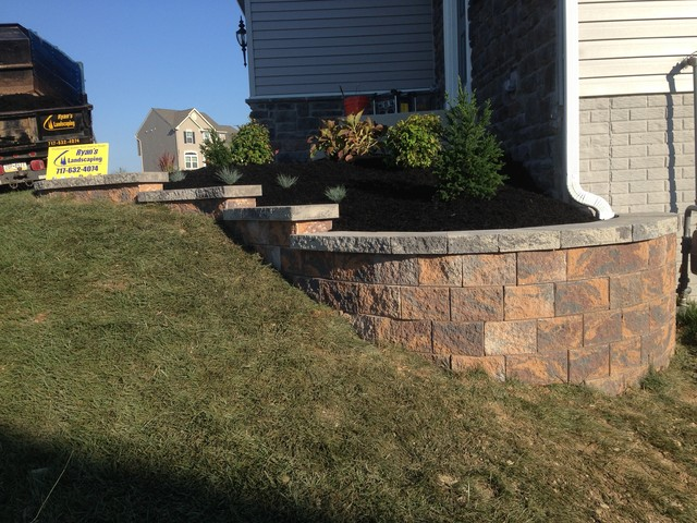 Nice Front Yard Retaining Walls Landscaping Ideas Part - 10: Front Garden Wall Ideas Of Hanover Front Yard Ideas Nicolock Retaining Wall