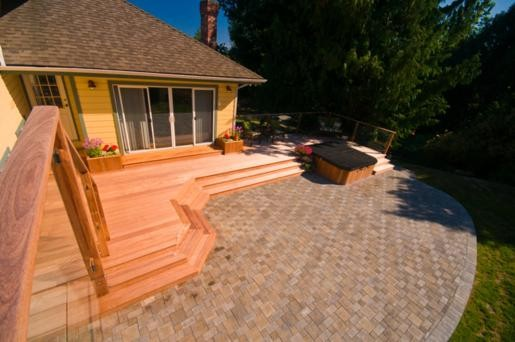 how to build a patio deck with pavers