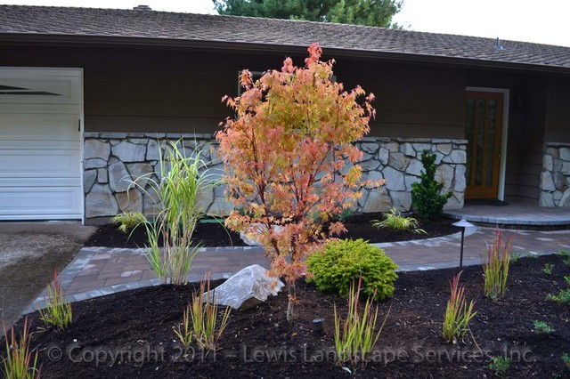 traditional landscape portland by lewis landscape services inc
