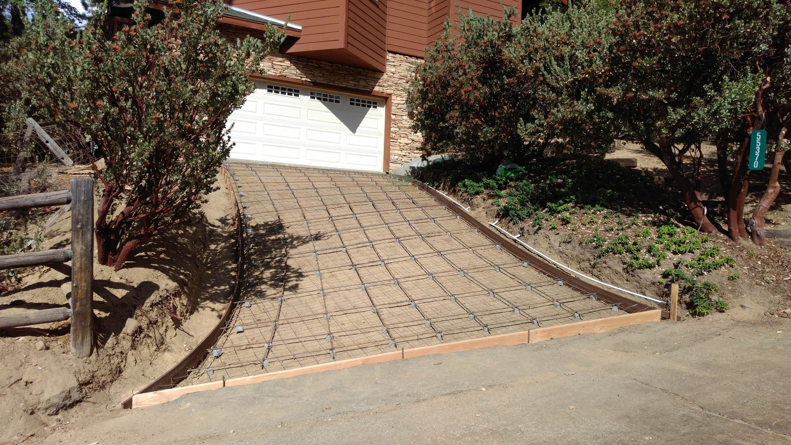 Heated Driveway - Reinforcing Work