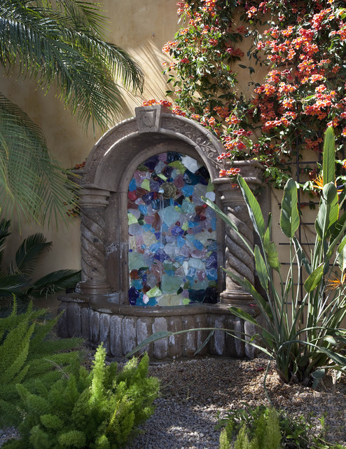 Hidden fountain mediterranean landscape phoenix by for Garden fountains phoenix
