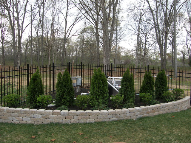 Landscaping Ideas To Hide Pool Equipment landscaping to hide pool equipment Hiding Pool Pump Traditional Landscape