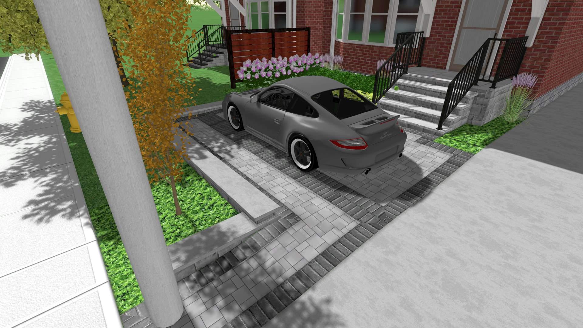 Front Yard Parking Pad 3D Design